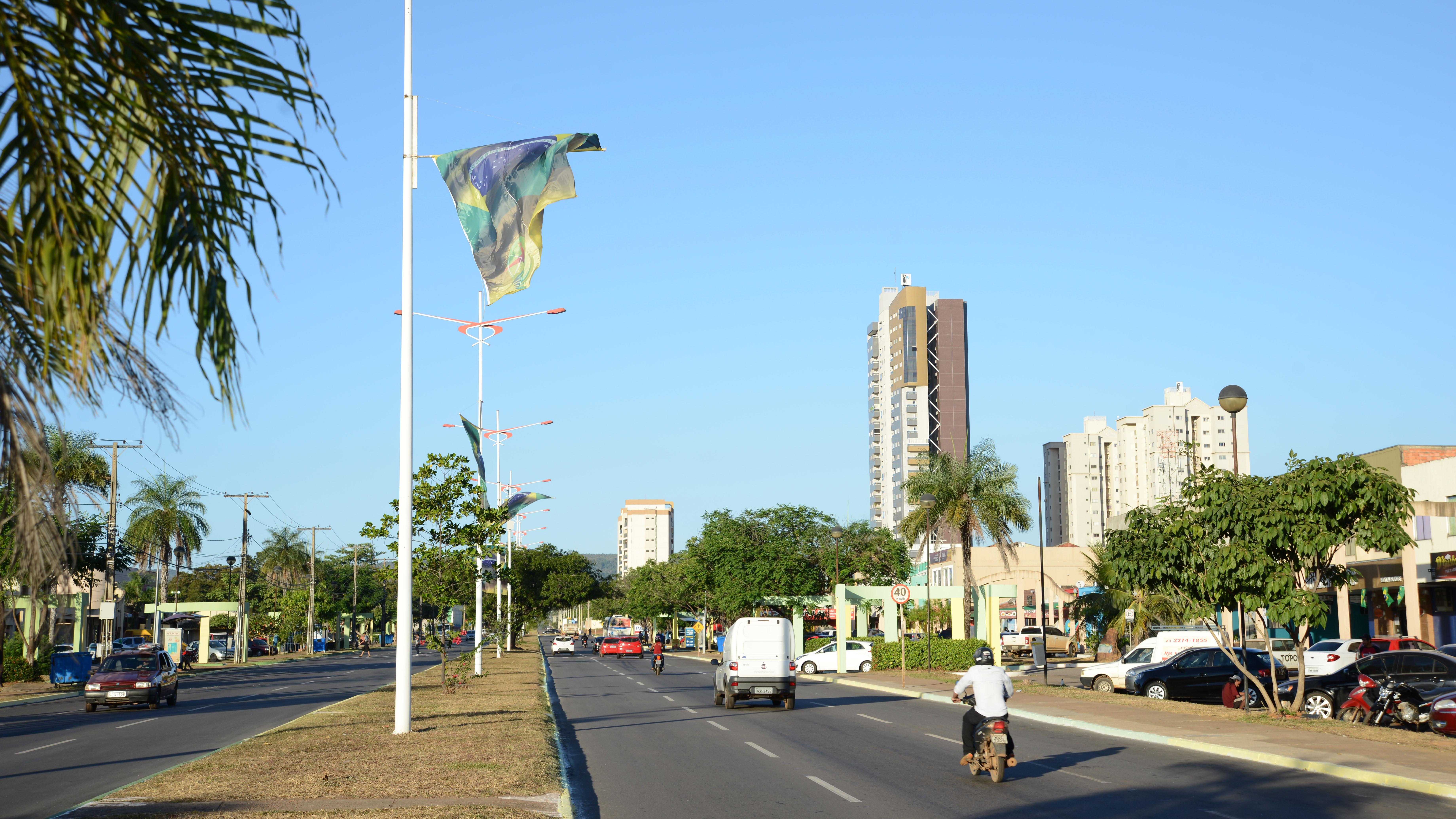 imageBandeiras do Brasil foram instaladas ao longo do reduto gastronômico