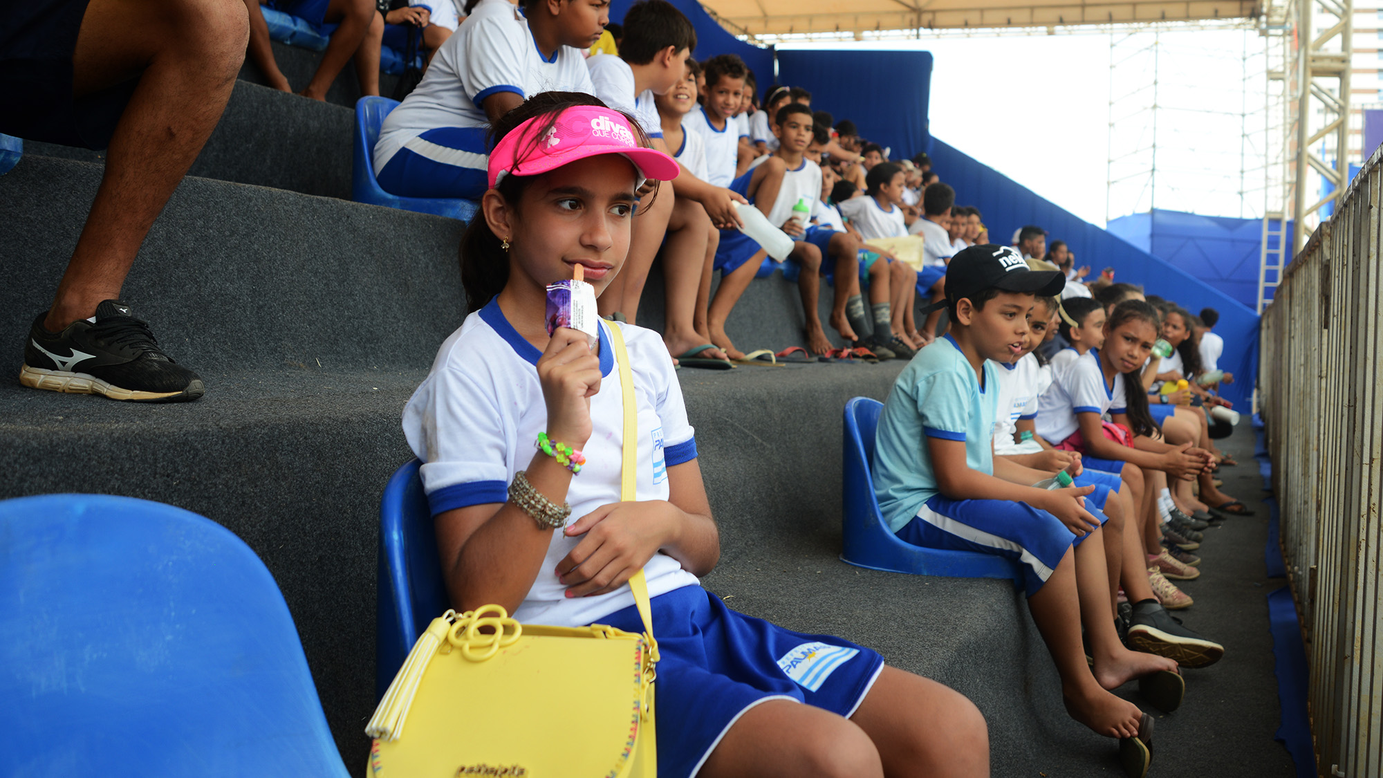imageMaria Paula Nobre Sá, da ETI Padre Josimo, estava ansiosa para assistir aos jogos